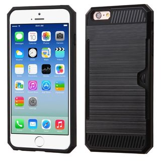 Insten Black Hard Snap-on Dual Layer Hybrid Case Cover For Apple iPhone 6/ 6s