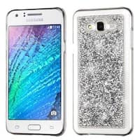 Insten Silver Hard Snap-on Rhinestone Bling Case Cover For Samsung Galaxy J7 (2015)
