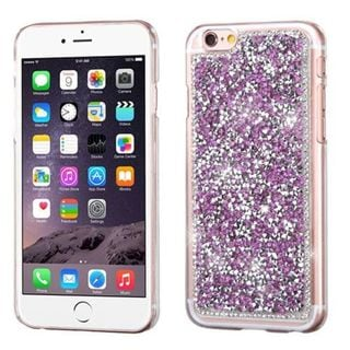 Insten Purple Hard Snap-on Rhinestone Bling Case Cover For Apple iPhone 6 Plus/ 6s Plus