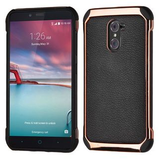 Insten Black/ Rose Gold Leather TPU Dual Layer Hybrid Case Cover For ZTE Grand X Max 2/ Imperial Max/ Kirk/ Max Duo 4G