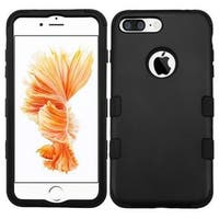 Insten Black Tuff Hard PC/ Silicone Dual Layer Hybrid Rubberized Matte Case Cover For Apple iPhone 7 Plus