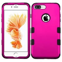 Insten Hot Pink/ Black Tuff Hard PC/ Silicone Dual Layer Hybrid Rubberized Matte Case Cover For Apple iPhone 7 Plus