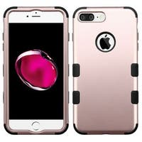 Insten Rose Gold/ Black Tuff Hard PC/ Silicone Dual Layer Hybrid Rubberized Matte Case Cover For Apple iPhone 7 Plus
