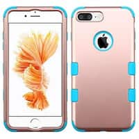 Insten Rose Gold/ Blue Tuff Hard PC/ Silicone Dual Layer Hybrid Rubberized Matte Case Cover For Apple iPhone 7 Plus