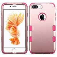 Insten Rose Gold/ Pink Tuff Hard PC/ Silicone Dual Layer Hybrid Rubberized Matte Case Cover For Apple iPhone 7 Plus
