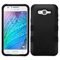 Insten Black Tuff Hard PC/ Silicone Dual Layer Hybrid Rubberized Matte Case Cover For Samsung Galaxy J7 (2015)