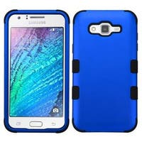 Insten Blue/ Black Tuff Hard PC/ Silicone Dual Layer Hybrid Rubberized Matte Case Cover For Samsung Galaxy J7 (2015)