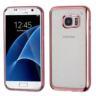 Insten Clear/ Rose Gold TPU Rubber Candy Skin Case Cover For Samsung Galaxy S7
