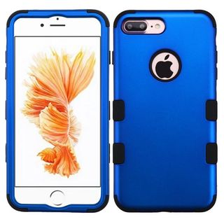 Insten Blue/ Black Tuff Hard PC/ Silicone Dual Layer Hybrid Rubberized Matte Case Cover For Apple iPhone 7 Plus