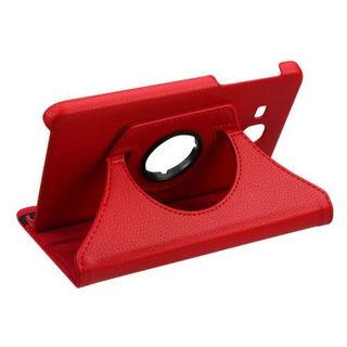 Insten Red Swivel Leather Case Cover with Stand For Samsung Galaxy Tab A 7
