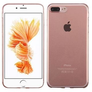 Insten Clear/ Rose Gold TPU Rubber Candy Skin Case Cover For Apple iPhone 7 Plus