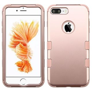 Insten Rose Gold Tuff Hard PC/ Silicone Dual Layer Hybrid Rubberized Matte Case Cover For Apple iPhone 7 Plus