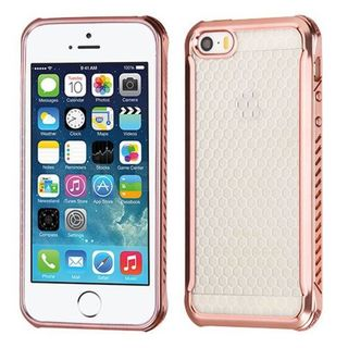 Insten Rose Gold TPU Rubber Candy Skin Case Cover For Apple iPhone 5/ 5S/ SE