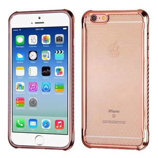 Insten Rose Gold TPU Rubber Candy Skin Case Cover For Apple iPhone 6/ 6s