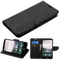 Insten Black Leather Case Cover with Stand/ Wallet Flap Pouch For LG Stylo 2 Plus