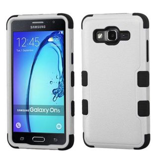 Insten Gray/ Black Tuff Hard PC/ Silicone Dual Layer Hybrid Rubberized Matte Case Cover For Samsung Galaxy On5