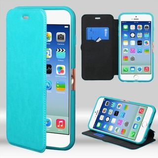 Insten Blue Leather Case Cover with Wallet Flap Pouch For Apple iPhone 6/ 6s