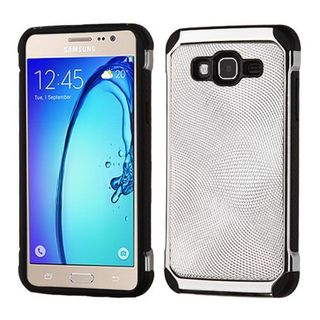 Insten Silver/ Black Hard Snap-on Dual Layer Hybrid Case Cover For Samsung Galaxy On5