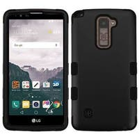 Insten Black Tuff Hard PC/ Silicone Dual Layer Hybrid Rubberized Matte Case Cover For LG Stylo 2 Plus