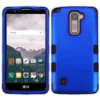 Insten Blue/ Black Tuff Hard PC/ Silicone Dual Layer Hybrid Rubberized Matte Case Cover For LG Stylo 2 Plus