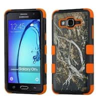 Insten Yellow/ Black Vines Tuff Hard PC/ Silicone Dual Layer Hybrid Rubberized Matte Case Cover For Samsung Galaxy On5