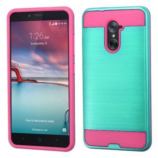 Insten Teal/ Hot Pink Hard Snap-on Dual Layer Hybrid Case Cover For ZTE Grand X Max 2/ Imperial Max/ Kirk/ Max Duo 4G/ Zmax Pro