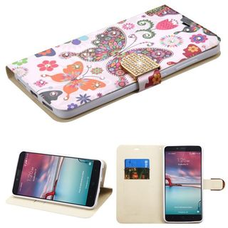 Insten Purple/ White Butterfly Wonderland Leather Case Cover For ZTE Grand X Max 2/ Imperial Max/ Kirk/ Max Duo 4G/ Zmax Pro