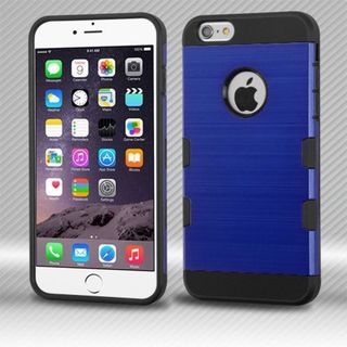 Insten Blue/ Black Hard Snap-on Case Cover For Apple iPhone 6 Plus/ 6s Plus