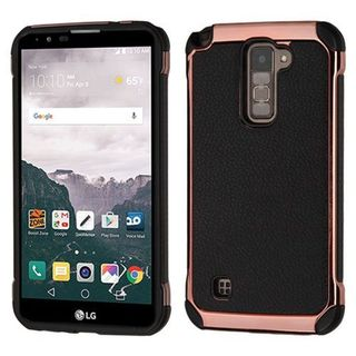 Insten Black/ Rose Gold Hard Snap-on Dual Layer Hybrid Case Cover For LG Stylo 2 Plus