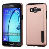 Insten Rose Gold/ Black Hard PC/ Silicone Dual Layer Hybrid Rubberized Matte Case Cover For Samsung Galaxy On5