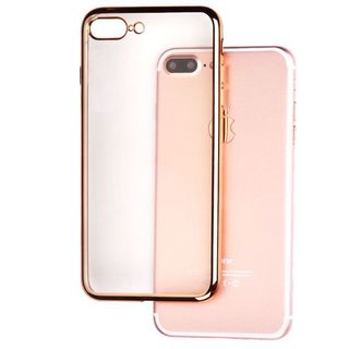 Insten Clear/ Gold TPU Rubber Candy Skin Case Cover For Apple iPhone 7 Plus