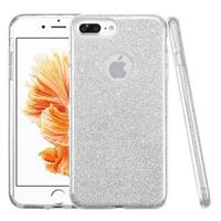Insten Silver Hard Snap-on Dual Layer Hybrid Glitter Case Cover For Apple iPhone 7 Plus