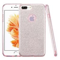 Insten Pink Hard Snap-on Dual Layer Hybrid Glitter Case Cover For Apple iPhone 7 Plus
