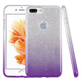 Insten Purple Hard Snap-on Dual Layer Hybrid Glitter Case Cover For Apple iPhone 7 Plus