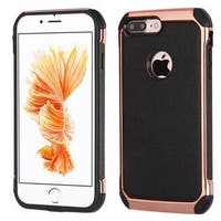 Insten Black/ Rose Gold Hard Snap-on Dual Layer Hybrid Case Cover For Apple iPhone 7 Plus