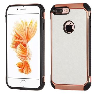 Insten White/ Black Hard Snap-on Dual Layer Hybrid Case Cover For Apple iPhone 7 Plus