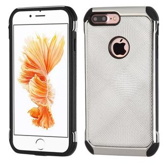 Insten Silver/ Black Hard Snap-on Dual Layer Hybrid Case Cover For Apple iPhone 7 Plus