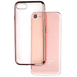 Insten Clear/ Rose Gold TPU Rubber Candy Skin Case Cover For Apple iPhone 7