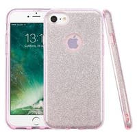 Insten Pink Hard Snap-on Dual Layer Hybrid Glitter Case Cover For Apple iPhone 7