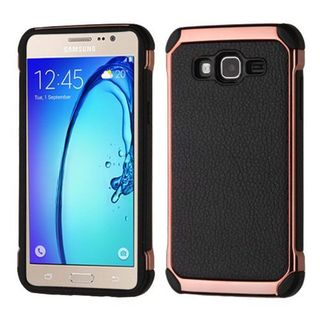 Insten Black/ Rose Gold Hard Snap-on Dual Layer Hybrid Case Cover For Samsung Galaxy On5