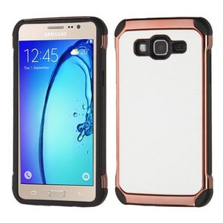 Insten White/ Black Hard Snap-on Dual Layer Hybrid Case Cover For Samsung Galaxy On5