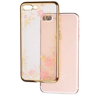 Insten Gold Secret Garden TPU Rubber Candy Skin Case Cover For Apple iPhone 7 Plus