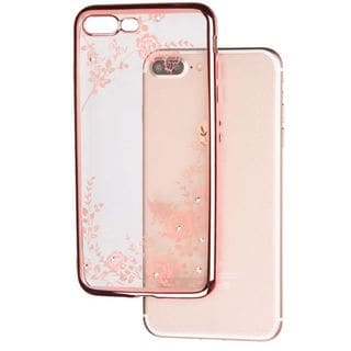 Insten Rose Gold Secret Garden TPU Rubber Candy Skin Case Cover For Apple iPhone 7 Plus
