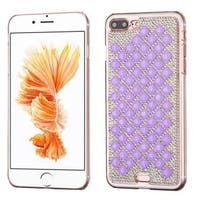 Insten Purple/ Silver Hard Snap-on Rhinestone Bling Case Cover For Apple iPhone 7 Plus