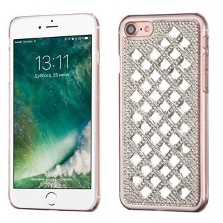 Insten Silver Hard Snap-on Rhinestone Bling Case Cover For Apple iPhone 7