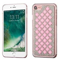 Insten Pink/ Silver Hard Snap-on Diamond Bling Case Cover For Apple iPhone 7