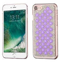 Insten Purple/ Silver Hard Snap-on Rhinestone Bling Case Cover For Apple iPhone 7