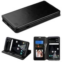 Insten Black Leather Case Cover with Stand/ Wallet Flap Pouch/ Photo Display For LG V20
