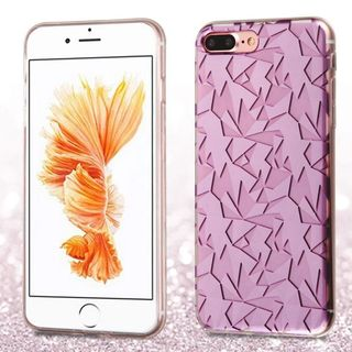 Insten Purple Geometry TPU Rubber Candy Skin Case Cover For Apple iPhone 7 Plus