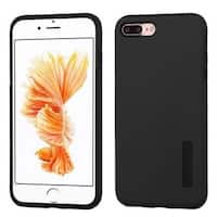 Insten Black Hard PC/ Silicone Dual Layer Hybrid Rubberized Matte Case Cover For Apple iPhone 7 Plus